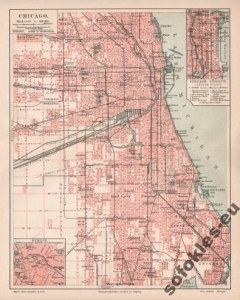 CHICAGO AMERYKA POLONIA PLAN 1904 r. reprint